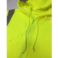 Reflective zip-up hoodie sweater class 2