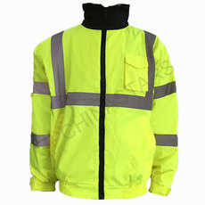 Reflective Fluorescent yellow jacket 3-in-1