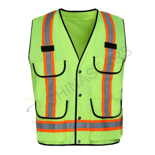 Reflective vest with multi-pockets 2 colors available