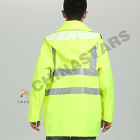 Non-rated Reflective Raincoat with vent