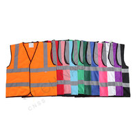 Classic safety vest with edging 11 colors available