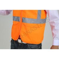 Zipper reflective vest with multiple pockets
