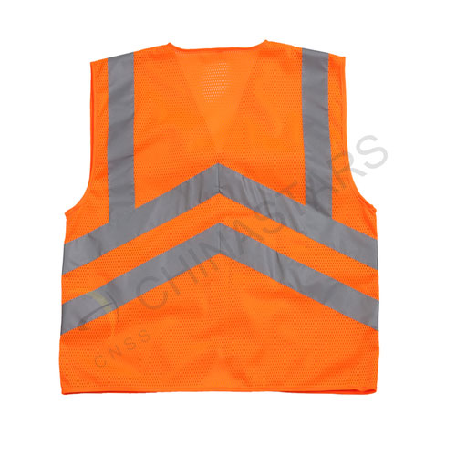 Zipper reflective vest with multiple pockets