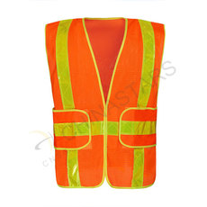 Reflective mesh vest with prismatic tape