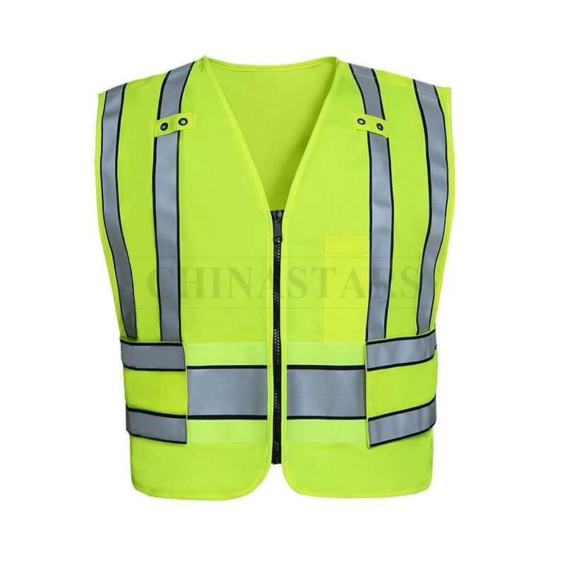 High visibility reflective yellow police public safety vest