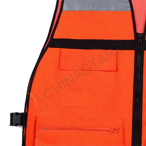 Fluorescent orange reflective vest 2 colors available