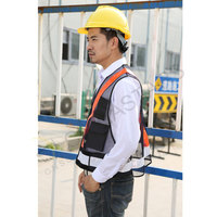 Black mesh warning reflective vest