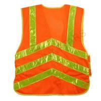 Mesh reflective vest with waist adjustment