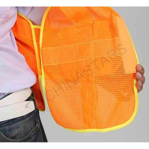 Mesh reflective vest with waist adjustment