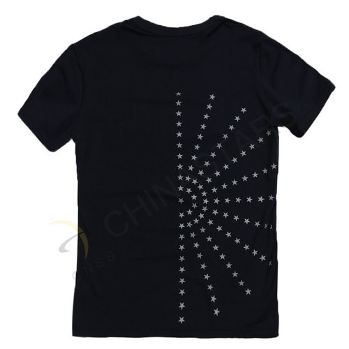 Reflective T-shirt with stars