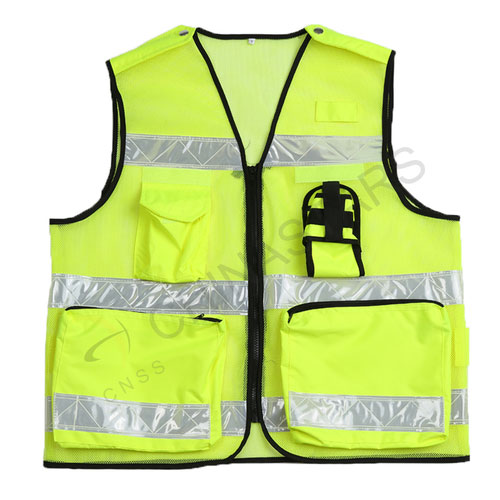 Reflective vest in both mesh & solid fabric