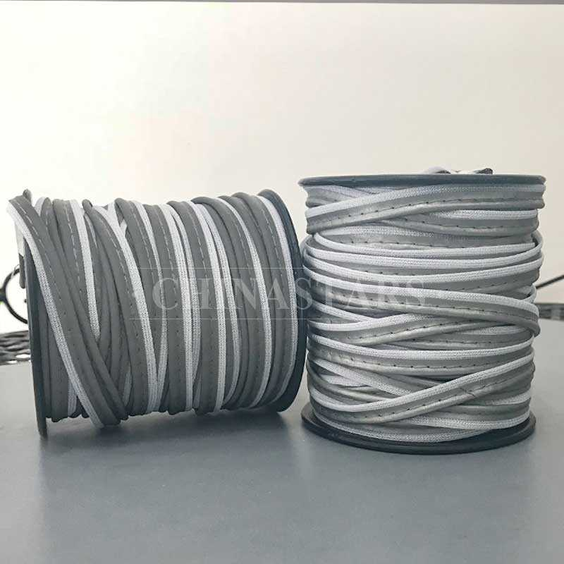 Polyester retro reflective piping tape for clothing