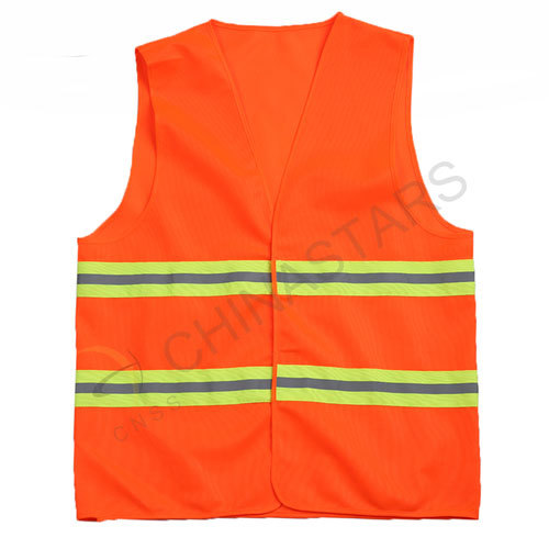 Hi-visibility vest with 2 horizontal reflective tape