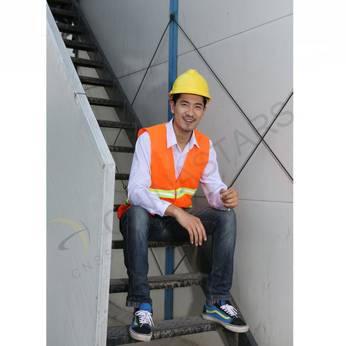 Hi-visibility vest with 2 horizontal reflective tape
