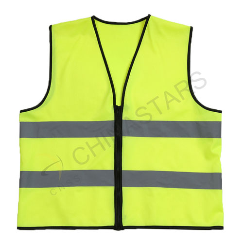 Classic reflective vest with zipper closure