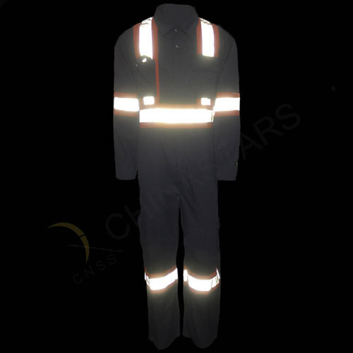 Lightweight cotton drill reflective overall