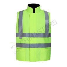 Fleece lined reflective vest