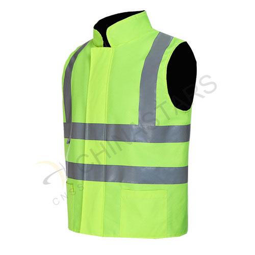 Fleece lined reflective vest
