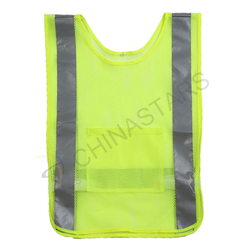 Reflective pull-over vest for cycling