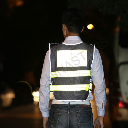 Mesh reflective vest w/ reflective edging  2 color available