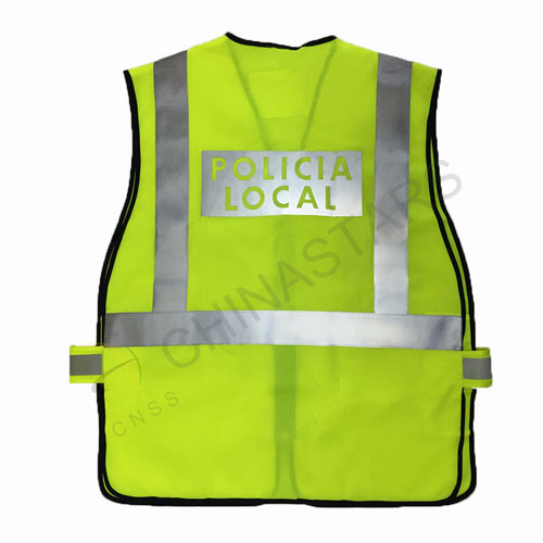 Reflective vest with Policia local logo