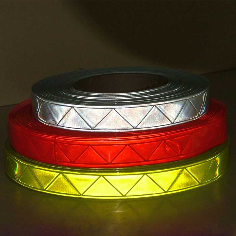 Micro prismatic reflective PVC tape