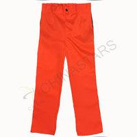 Fluorescent orange reflective pants