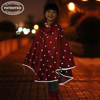 Children fashion reflective raincoat