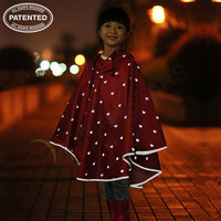 Children fashion reflective raincoat