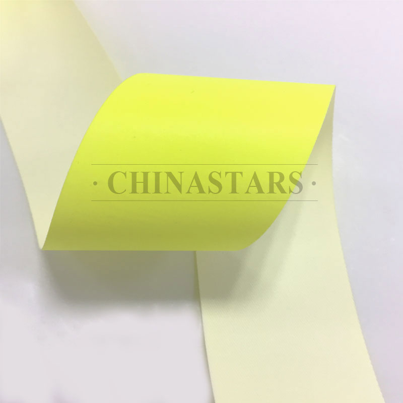 Flame retardant yellow reflective tape