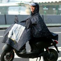 Reflective raincoat for motorcycle