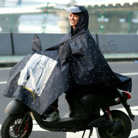 Reflective raincoat for motorcycle