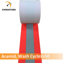 100% aramid fireproof reflective tape orange-silver-orang