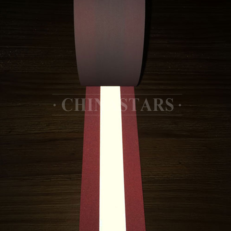 100% aramid fireproof reflective tape orange-silver-orange