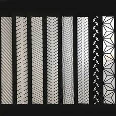 Silver segmented reflective heat transfer film pattern