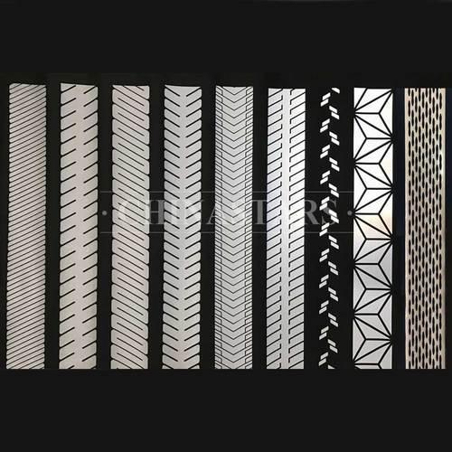 Silver segmented reflective heat transfer film pattern