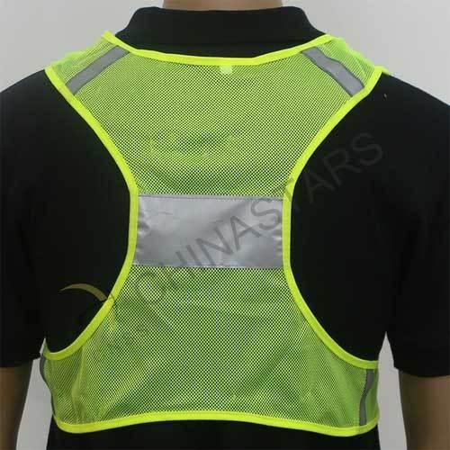 Mesh refelctive running safety vest