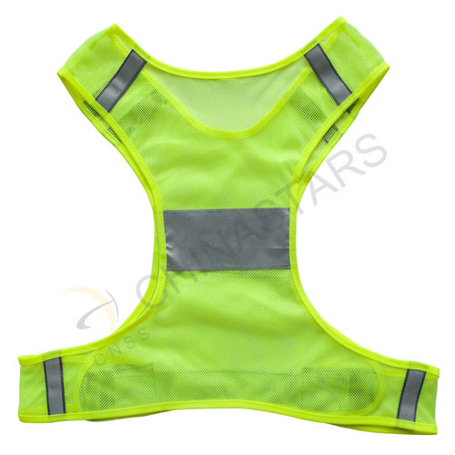 Mesh refelctive running safety vest