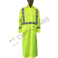 waterproof hi vis reflective long coverall