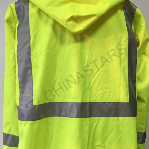 Csc 003 Waterproof Hi Vis Reflective Long Coverall