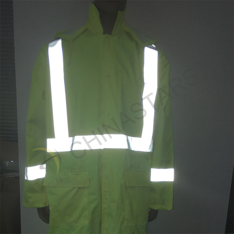 waterproof hi vis reflective long coverall