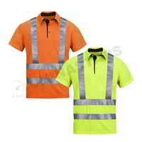 ANSI hi-vis reflective polo shirt