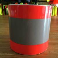 Reflective heat transfer vinyl orange-silver-orange