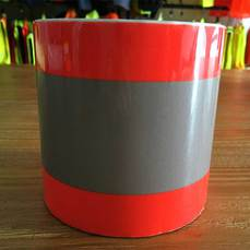 Reflective heat transfer vinyl orange-silver-orange