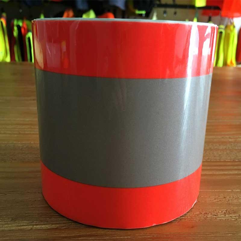 Orange silver orange reflective heat transfer tape