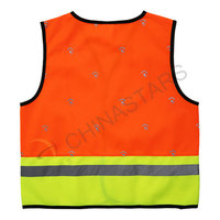 High vis children safety vest in two tone