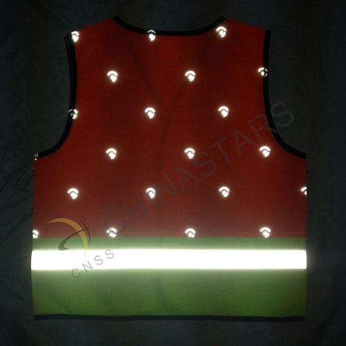 High vis children safety vest in two tone