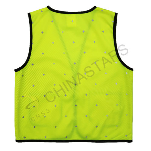 Children safety vest with reflective dot pattern