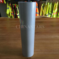 Silver glass beaded reflective graphics film aluminum coated