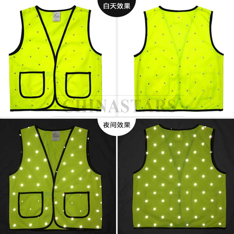 Reflective fabric with cross pattern for outdoor clothing